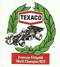 Texaco Emerson Fittapaldi Grand Prix World Champ Retro Sticker