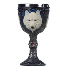 NEW WOLF 3D GOTHIC GOBLET PAGAN WICCA FANTASY DECOR GOTH CHALICE HALLOWEEN