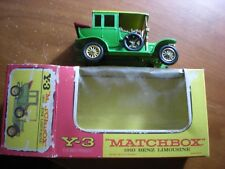 MATCHBOX Y-3 MODELS OF YESTERYEAR 1910 Benz Limousine with BOX