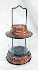 Antique / VIntage Camping Style Copper & Glass Candle Lantern - BNWT
