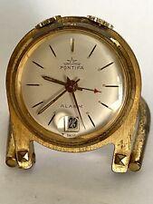Pontifa Swiss Made Alarm / Date Table Small Clock