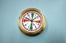 MEGA-QUARTZ SHIPS Clock brass lacquered finish case with Radio Room Dial