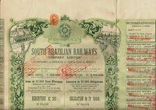 BRAZIL  South Brazilian Railways Co Ltd 1910