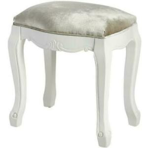 Florence Shabby Chic Dressing Table Stool Bedroom Stool Upholstered and wood