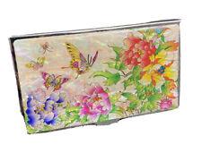 Opal Butterfly Amp Flower Business Card Holder