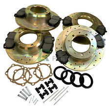 LAND ROVER DEFENDER 90 FRONT & REAR PERFORMANCE BRAKE KIT, SOLID DISCS PADS SET