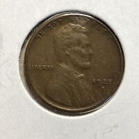 1925-S 1c LINCOLN WHEAT CENT *NICE VF / XF COIN* LOT#AJ44