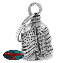 Biker Motorrad Guardian Bell Glocke Glücksbringer - USA Flag Key Ring Anhänger