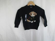 Polo by Ralph Lauren Toddler Navy Dog Puppy Rugby Sweater NWT Sz 2/2T $95