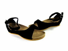 SHOES OF SOUL FOOTBED STRAP SANDALS BLACK SYNTHETIC IMPORTED US SIZE 9 MEDIUM