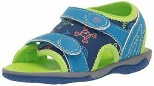 New STRIDE RITE Outdoor Water Shoes Sandals Everett Cobalt Blue Pirate Theme 5 6