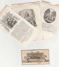 San Luigi Gonzaga Lotto 4 Santini Originali Incisioni del 1800