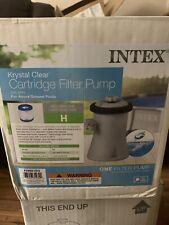 New listing Intex 28601Eg 330 Gph Easy Set Swimming Pool Cartridge Filter Pump In Hand!