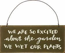 Garden Sign We Wet Our Plants Gardener Patio Spring Planting Nature Yard #855