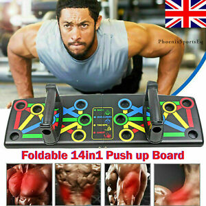 14 in1 Push Up Rack Board Fitness Workout Training Gym Exercise Pushup Stand UK
