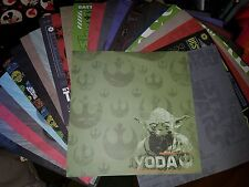 Scrapbook paper 12x12 STAR WARS DISNEY C3PO YODA VADER LUKE 25 pgs ***LAST ONE!*