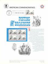 #12 8c #1477 Posting Broadside USPS Commemorative Stamp Panel  w/FDC