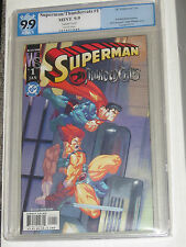 SUPERMAN THUNDERCATS COMIC NO. 1 PGX GRADED 9.9 WHITE PAGES COVER VARIANT