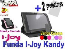 "FUNDA TABLET i-JOY KANDY 7"" UNIVERSAL GIRATORIA AJUSTABLE + 2 Protectores"