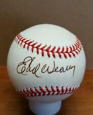 Earl Weaver Autograph Baseball HOF Hall of Fame OAL Budig Ball