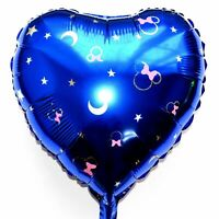 Helium Foil Balloon Disney Mickey Minnie Mouse Blue Moon Heart Baby Shower