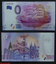 Billet touristique zero €uro, Le BELEM , 120 ans ,2016, neuf
