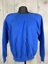 VTG Hanes Raglan Sweatshirt Large Made In USA Vintage 80s Soft Thin