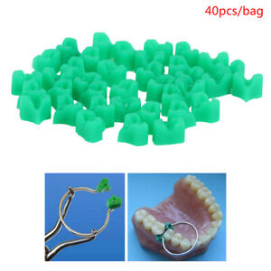 40Pcs Silicone Dental Add-On Wedges for Teeth Filling Use Sectional Contoured AP