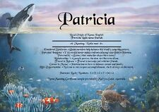 Peronsalised Gift - Under the Sea theme -  First Name Meaning Certificate