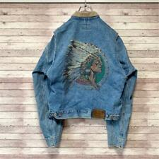 Polo Ralph Lauren Indian Head Denim Jacket Mens S 80s PWing bear Vintage rare