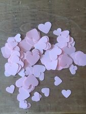 Over 300 Pale Pink Romantic Hearts-2 Different Sizes-wedding table confetti