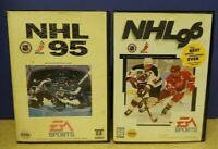 NHL '95 '96  - Sega Genesis Game - Working & Tested - 2 NHL Hockey Games Lot  !