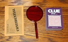 CLUE DVD Game Replacement Parts Pieces - 42 Cards, Case File Envelope Mag Glass