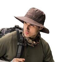 Unisex Bucket Hat Boonie Hunting Fishing Outdoor Wide Brim Safari Camo Sun Cap
