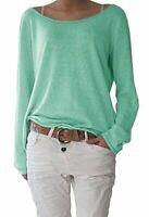 Ladies Long Sleeve Women Fashion Blouse Summer Shirt T-shirt Loose Tops Solid
