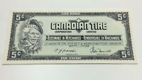 1974 Canadian Tire 5 Five Cents CTC-S4-B-Q-N Uncirculated Money Banknote D200