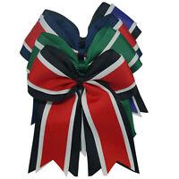 8 Inch Cheerleading Hair Bands Elastic Ponytail Cheer Hair Bow Grosgrain Ribbon
