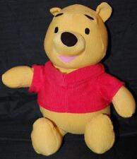 "Fisher Price Disney Corduroy Winnie Pooh Red Shirt Plush Stuffed Toy 10"" 2008"