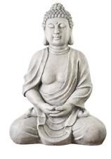 XXXL Großer Buddha 70 cm Steinfigur Garten Deko Figur Skulptur Feng Shui sitzend