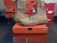"""Nike Air SFB 8"""" Special Field ACG British Khaki Tan Military Boots SF 631371 220"""