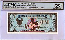 1990 D $1 Disney Dollars PMG Graded 65 EPQ DIS18 Mickey Mouse Rare High Grade