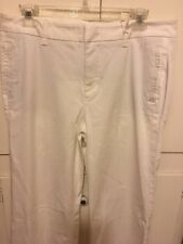 Level 99 Anthropologie Women's Stretch Cotton Blend Pants sz 31Boot Cut Cream