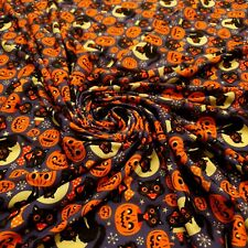 2 Metres Halloween cat print spun poly fabric strecth crafts top quality