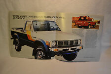1981 TOYOTA 4x4 Pick-Up Truck Hi-Lux  Brochure 24 Pages All Pickup Trucks