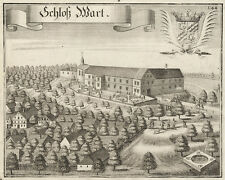 Schloss Warth (Marklkofen). - Kupferstich/Wening, um 1750