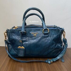 Pre Owned Authentic Prada Leather / Shoulder Bag / 2 Way Bag