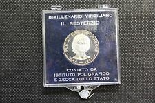 1981 ITALIA MEDAGLIA IN ARGENTO BIMILLENARIO VIRGILIANO IL SESTERZIO