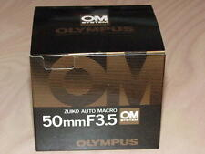OLYMPUS OM ZUIKO 50mm F3.5 MACRO LENS NEW IN BOX LATER MC VERSION