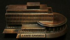 New ListingBanthrico Lawn Savings Bank Building Metal Coin Bank in Excellent Condition!