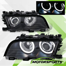 [LED Halo]1999 2000 2001 BMW E46 3-Series LED Halo Projector Black Headlights